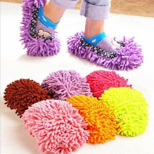1 Pair Mop Slippers Lazy Floor Foot Sock Shoes Quick Polishing Cleaning Soft