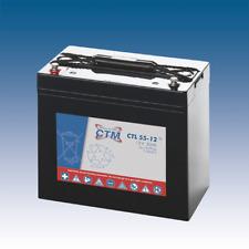 12V 55Ah CTM AGM Longlifebatterie