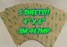 FIVE SHEETS 3M 467MP DOUBLE SIDED ADHESIVE TAPE SUPER THIN STICKY PAPER CRAFTIN