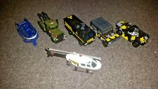 Matchbox and Hot Wheels.  Tow Truck, Helicopter, Boat and Commando vehicles.