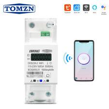 Tuya Single Phase Din Rail WIFI Smart Energy Meter timer Power 110V 220V 50/60Hz