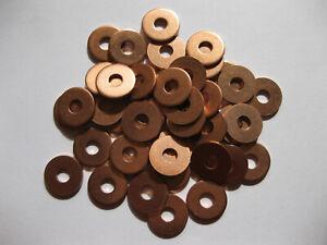 Copper washers for 10 Gauge saddlers rivets leather crafts belt bag nuts bolts
