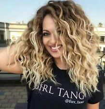 Glamour Lady Wig Short Wavy Curly Hair Costume Blonde Mix Women Wig