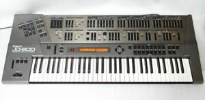 Roland JD-800 Synthesizer Keyboard manual Power cord hard case Vintage working
