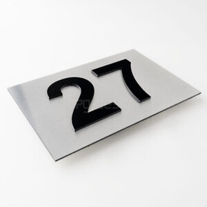 Hausnummer Edelstahl Zahlen Buchstaben Türnummer Hausnummerschild 3d design mode