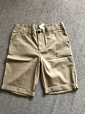 Boys 12-13 Years Beige Chino Shorts, New With Tags