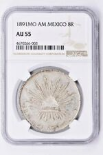 1891MO AM Mexico 8 Reales NGC AU 55 Witter Coin