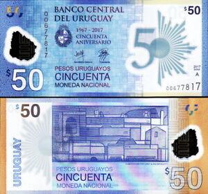 Uruguay - 50 Pesos 2017 Conmemorativa Polímero Fds - UNC