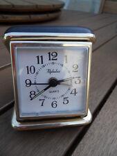 pendule horloge reveil voyage travel clock desk Uhr chevet bureau ALPHALUX