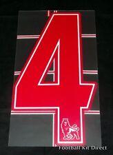 Premier League 2007/12 Red Lextra Senscilia Football Shirt Number 4