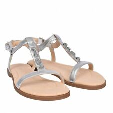 Clarks Silver leather ladies sandals size 3/35.5 D New