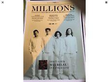 Millions Max Relax Launch Tour Poster August 2014 40 X 30 Cm