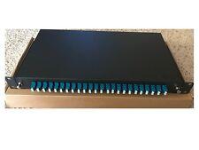 Fiber Optic Patch Panel,Enclosure,24 Port Loaded with 24 LC Duplex,Rackmount