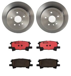 Brembo Rear Brake Kit Ceramic Pads Disc Rotors For Lexus RX330 Toyota Highlander