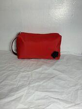 Lancome Paris Cosmetic Bag Makeup Bag Red Black Rose