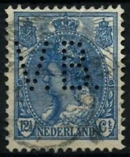 Netherlands 1899-1923 SG#180, 12.5c Blue Used Perfin V.B. #D71254