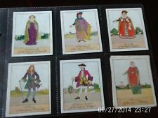 carreras cigarette cards british costumes x6 numbers 15,8,7,20,22,3 in sleeve
