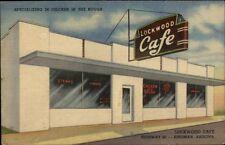 Kingman AZ Lockwood Caf' NICE LINEN Postcard