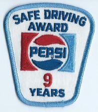 Pepsi Safe Driving Award 9 Years. 3-1/2X3X2 in