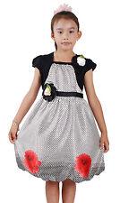 NUEVO Vestido niña de fiesta en rosa, Negro en 4A 7 años