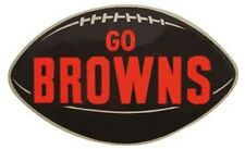 "Cleveland Browns  Vintage Looking  1950's  ""Go Browns""  Die Cut   Sticker Decal"