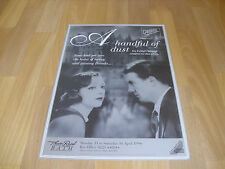 A HANDFUL of DUST  Cambridge Company 1994  Theatre Royal BATH  Original Poster