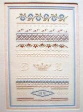 Pastel Sampler Cross Stitch Leaflet