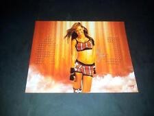 "AJ LEE PP SIGNED 10""X8"" PHOTO REPRO TNA WWE WRESTLING"