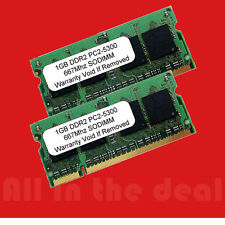 2GB Kit  2 X 1GB DDR2 PC5300 SODIMM 667Mhz PC2-5300 200Pins Laptop memory