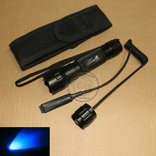 New UltraFire WF-501B CREE Blue light LED 1Mode Flashlight Torch + Holster Set