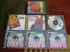 Lot of 9 Cds 60s 70s Rock & Roll Pop R&B Soul Surf Psychedlic Compilations