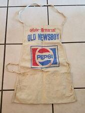 St. Louis Globe Democrat Old Newsboys Pepsi Apron Vintage Rare