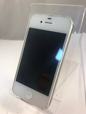 Apple iPhone 4s 8GB A1387 White Cracked Back IOS Mobile Smart Phone