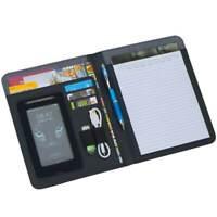 Elegante Schreibmappe Carvin DIN A5 im Materialmix -NEU-