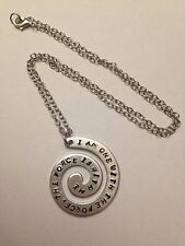 Handmade Star Wars Rogue One I Am One With The Force....Stamped Keyring Necklace