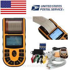 Portable Handheld ECG/EKG Machine,1 Channel 12 Lead,Free PC SYNC Software CE&FDA