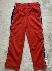 New Gap Fit Boys Red Blue Sweatpants Size S Track Athletic Pants Drawstring