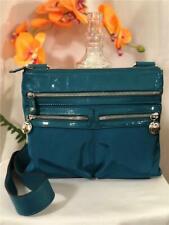 NWOT Brighton Pine Dark Green Nylon Crossbody Bag with Leather Trims and Strap