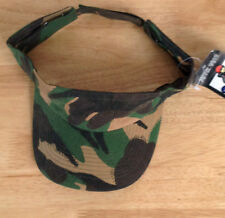 KHAKI GREEN ARMY CAMOUFLAGE 100% COTTON SUN VISOR FANCY DRESS PARTY PAINT BALL