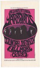 Mint Original 1966 The Yardbirds Country Joe And The Fish Fillmore Postcard Bg33