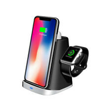 Wireless Charging Station Stand Dock for Apple Watch + Airpods + iPhone XS