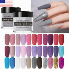 NICOLE DIARY 89 Color Nail Dipping Powder Pink Purple Dip System Natural Dry 10g