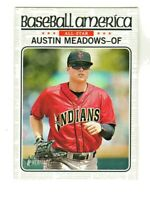 2017 Topps Heritage Minors BASEBALL AMERICA #BA-AM AUSTIN MEADOWS RC Rookie Rays