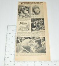 Ponds Angel Face Medicated Make-Up Complexion Christmas Prom 1966 VTG Print Ad