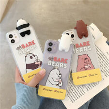 Cute Cartoon We Bare Bears case Cover for iPhone 11 Pro Max XS XR 6S 7 8+ Samung