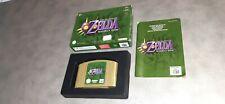 Jeu Nintendo 64 N64 Zelda Majora's Mask complet