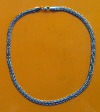 Collana in acciaio Snake a maglia piatta 51 cm