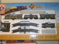 HO US ARMY CLASSIC TRAIN SET LOCO & 3 CARS US ARMY SET 1028-A1 / W 48 TROOPS