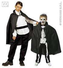 MANTELLO NERO BAMBINO 90 CM WIDMANN Carnevale Halloween Dracula Vampiro 3580N