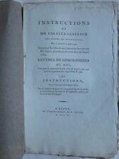 INSTRUCTIONS, IMPOSITIONS POUR LA BOURGOGNE, 1790, Capitation, finance...
